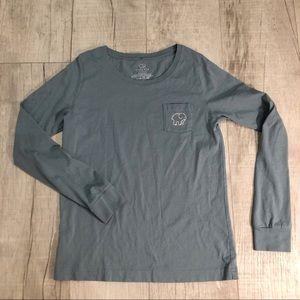 "IVORY ELLA ""elephant"" Long sleeve t-shirt gray S"